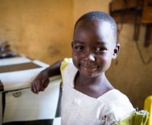 On 8 June 2016, Aber Beatrice, 5, photographed in the restaurant that her mother owns in Magri, South Sudan.   ?Can you write your name?? Aber asked, ?and hers, and hers,? making sure all the names were written down. Then she gave her mother?s telephone n